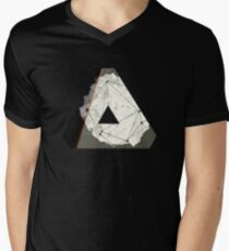 Abstract Geometry: Embers (Brown/Gold) Men's V-Neck T-Shirt