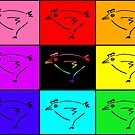 8-Color Pride Flag w/Chicken by Etakeh