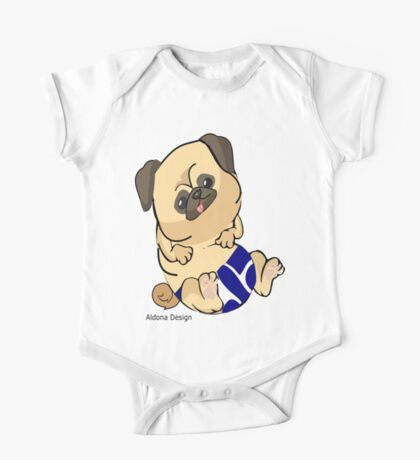 Pug in blue Kids Clothes