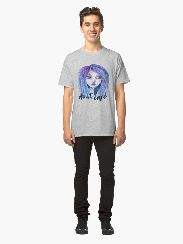 Alternate view of Don't Care Classic T-Shirt