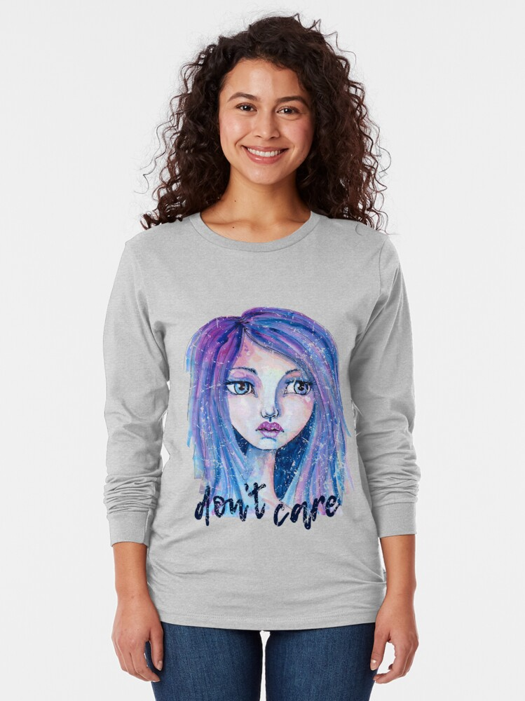 Alternate view of Don't Care Long Sleeve T-Shirt