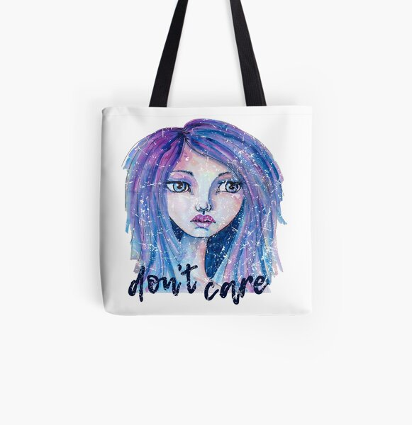 Don't Care All Over Print Tote Bag