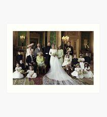 Prince Harry and Meghan Markle Royal Wedding Art Print