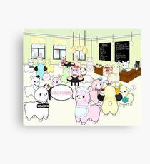 Alpaca Dreams Café Canvas Print