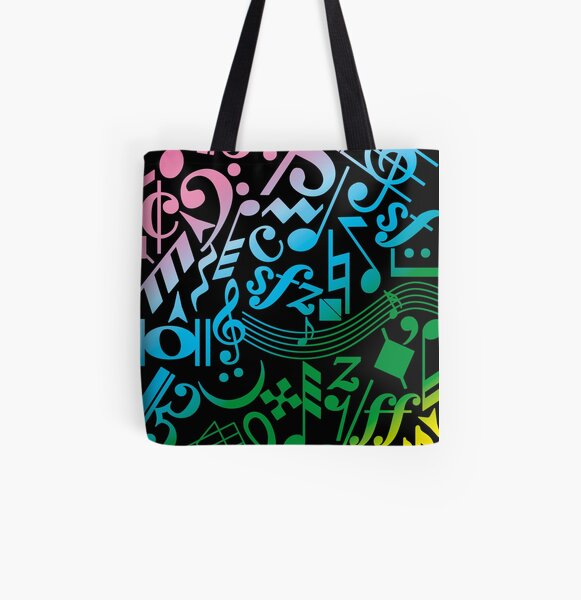 Music notes Music symbols Music All Over Print Tote Bag