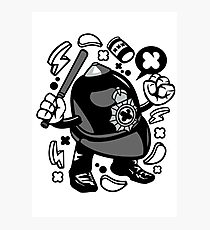 Police hat Cartoon Character Photographic Print