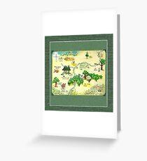 Winnie The Pooh 100 Aker Wood Map Greeting Card