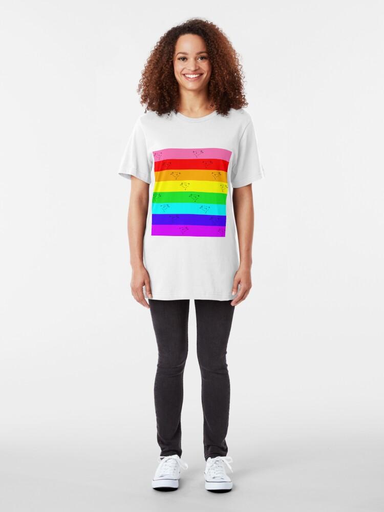Alternate view of 8-Color Pride  Slim Fit T-Shirt