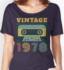 Camiseta ancha para mujer 40.o Regalo de cumpleaños Vintage 1978 Año Camiseta