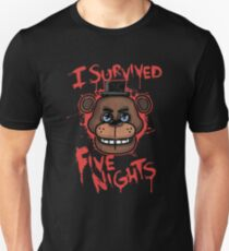 I Survived Five Nights At Freddy's Pizzeria Slim Fit T-Shirt