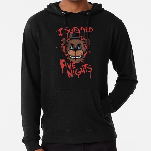 I Survived Five Nights At Freddy's Pizzeria Lightweight Hoodie