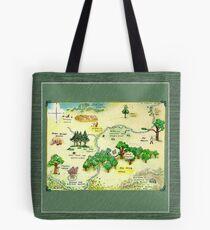 Winnie The Pooh 100 Aker Wood Map Tote Bag