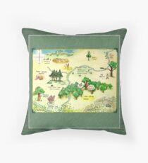 Winnie The Pooh 100 Aker Wood Map Throw Pillow