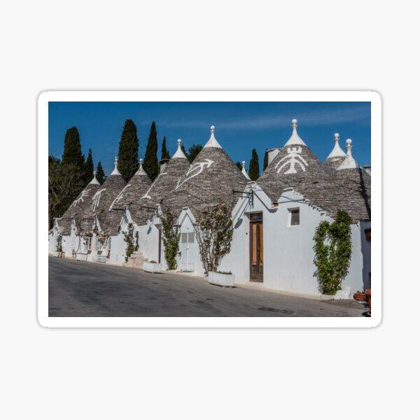 Trulli Houses in Alberobello Italy Sticker