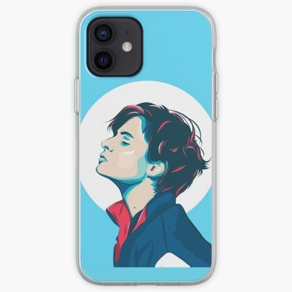 Illustration portrait of Christine and the Queens. iPhone Soft Case