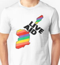 Live Aid Band Aid 1985 Symbol Slim Fit T-Shirt