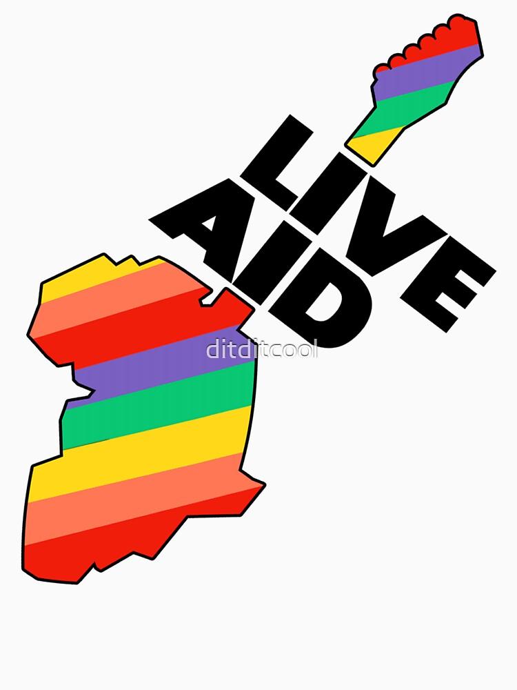 Live Aid Band Aid 1985 Symbol de ditditcool