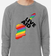Live Aid Pflaster Hilfe Symbol Leichtes Sweatshirt