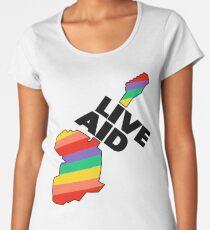 Live Aid Band Aid 1985 Symbol Women's Premium T-Shirt