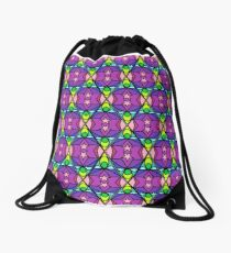 Witchie stained glass Drawstring Bag