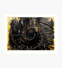 Staircase wall art print - memory of a spiral fire tornado Art Print