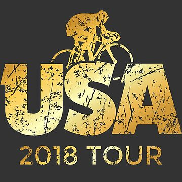 USA 2018 Bicycle Tour (Ancient Gold) by theshirtshops