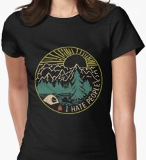 I hate people camping hiking Women's Fitted T-Shirt