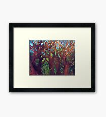 SCARY TREES Framed Print