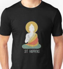 Funny buddha buddhism meditation peace dharma zen Unisex T-Shirt