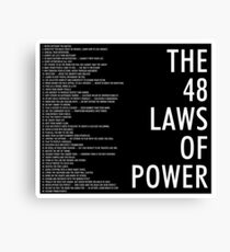 the 48 laws of power black poster Canvas Print