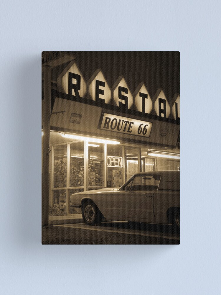 Alternate view of USA. New Mexico. Route 66. Santa Rosa. The Route 66 Restaurant. Canvas Print