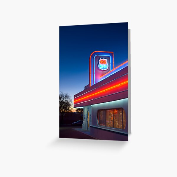 USA. New Mexico. Albuquerque. Route 66 Diner. Greeting Card