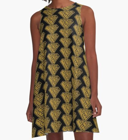 Peace SuperEmpowered (Gold) A-Line Dress