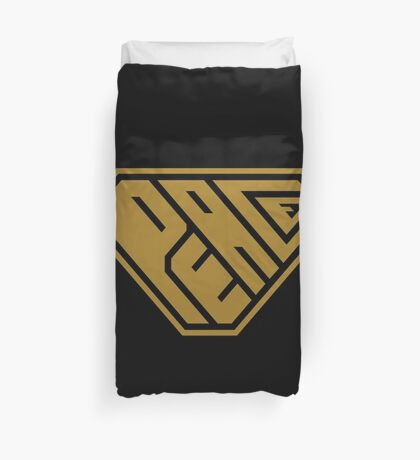 Peace SuperEmpowered (Gold) Duvet Cover