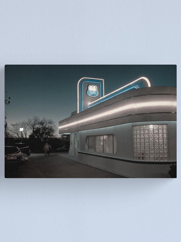 Alternate view of USA. New Mexico. Albuquerque. Route 66 Diner. Canvas Print