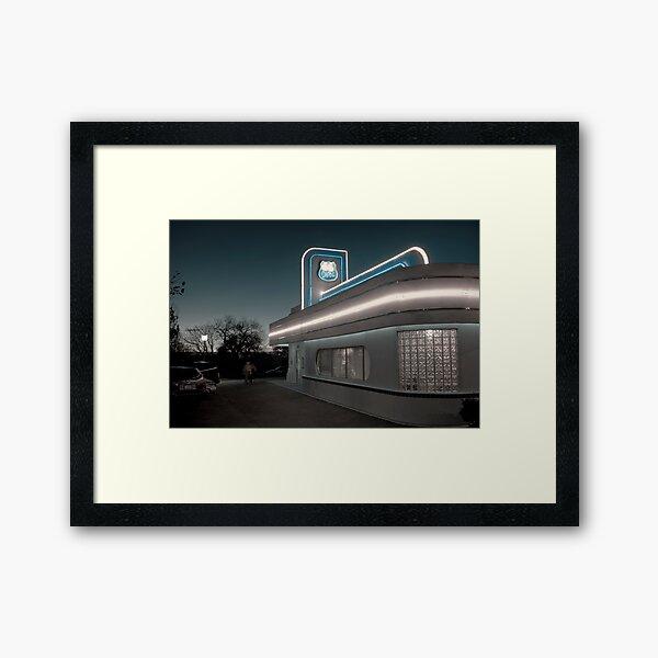 USA. New Mexico. Albuquerque. Route 66 Diner. Framed Art Print