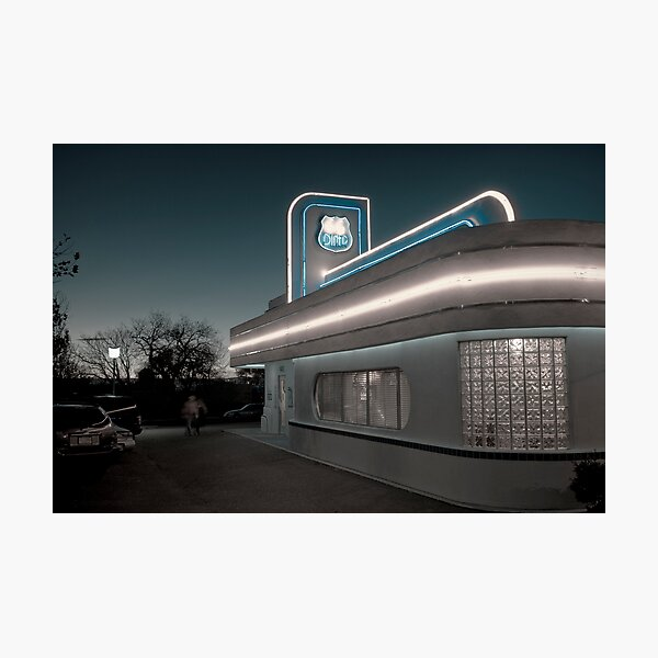 USA. New Mexico. Albuquerque. Route 66 Diner. Photographic Print