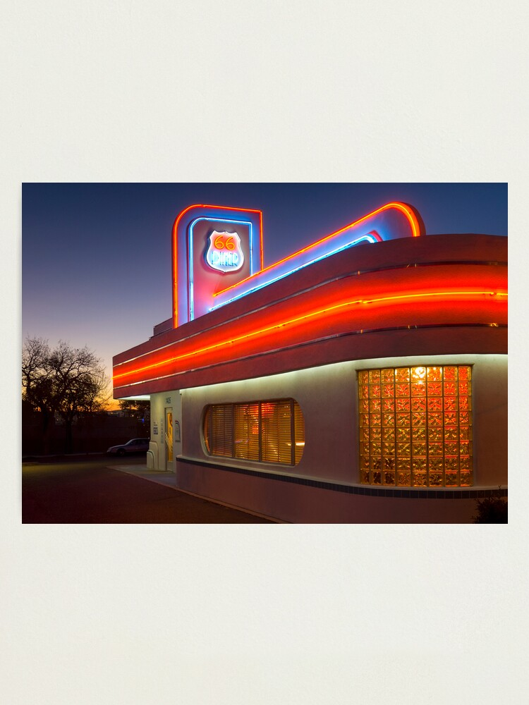 Alternate view of USA. New Mexico. Albuquerque. Route 66 Diner. (Alan Copson ©) Photographic Print