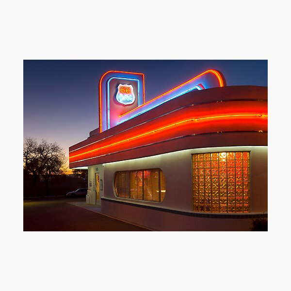 USA. New Mexico. Albuquerque. Route 66 Diner. (Alan Copson ©) Photographic Print