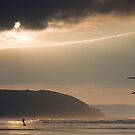 Kite boarder by John Burtoft
