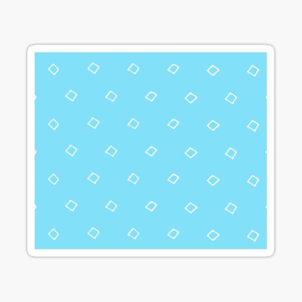 WHITE SQUARES ON LIGHT BLUE PATTERN Sticker