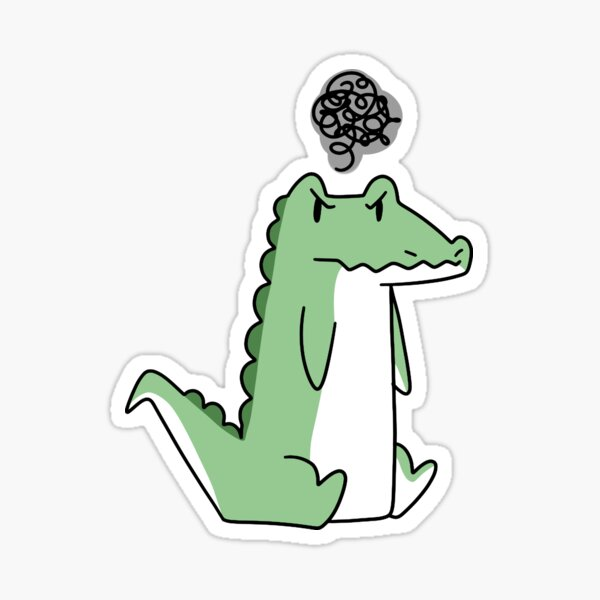 Grumpy Alligator  Sticker