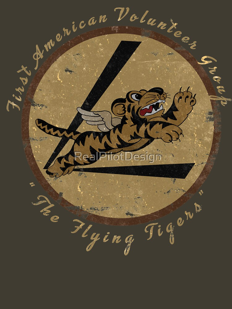 "Flying Tigers Squadron WWII ""Leather Patch"" Design by RealPilotDesign"