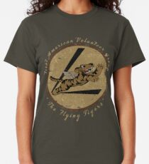 "Flying Tigers Squadron WWII ""Leder Patch"" Design Classic T-Shirt"