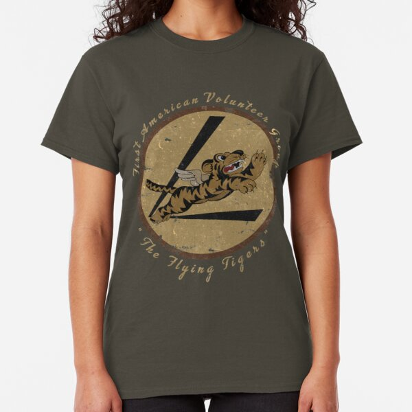 """Flying Tigers Squadron WWII """"Leather Patch"""" Design Classic T-Shirt"""