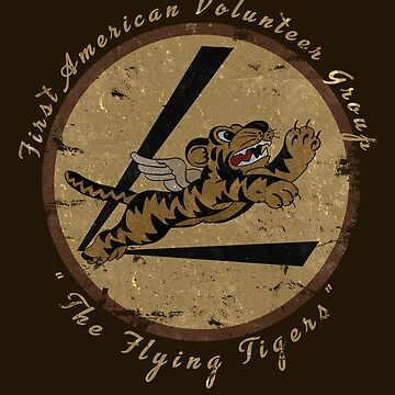 """Flying Tigers Squadron WWII """"Leather Patch"""" Design by RealPilotDesign"""