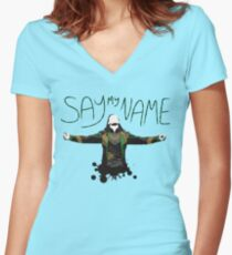 Say My Name! Women's Fitted V-Neck T-Shirt