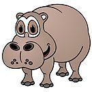 Hippo Cartoon by Graphxpro