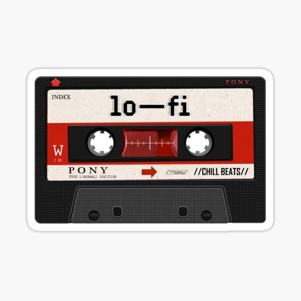 lofi music cassette Sticker