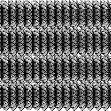 Black White Swirls Abstract Pattern by ValeriesGallery